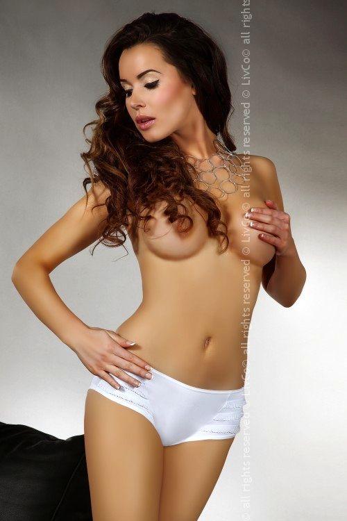 Kalhotky Tassia - Livia Corsetti XL Bílá