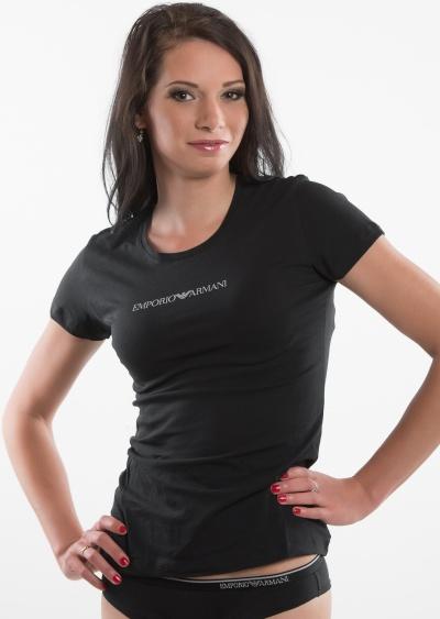24fec1e3327e Dámské tričko Emporio Armani 163320 CC317 černá