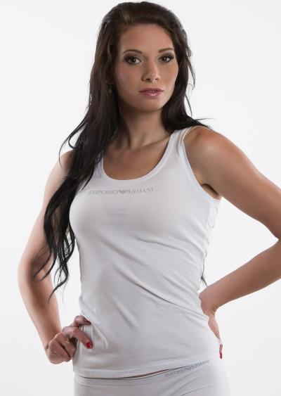 4ce95ff71c3f Dámské tričko Emporio Armani 163319 CC317 L Bílá