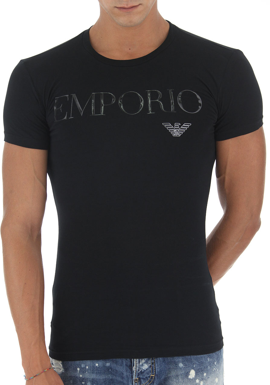Pánské tričko Emporio Armani 111035 7A516 S Černá