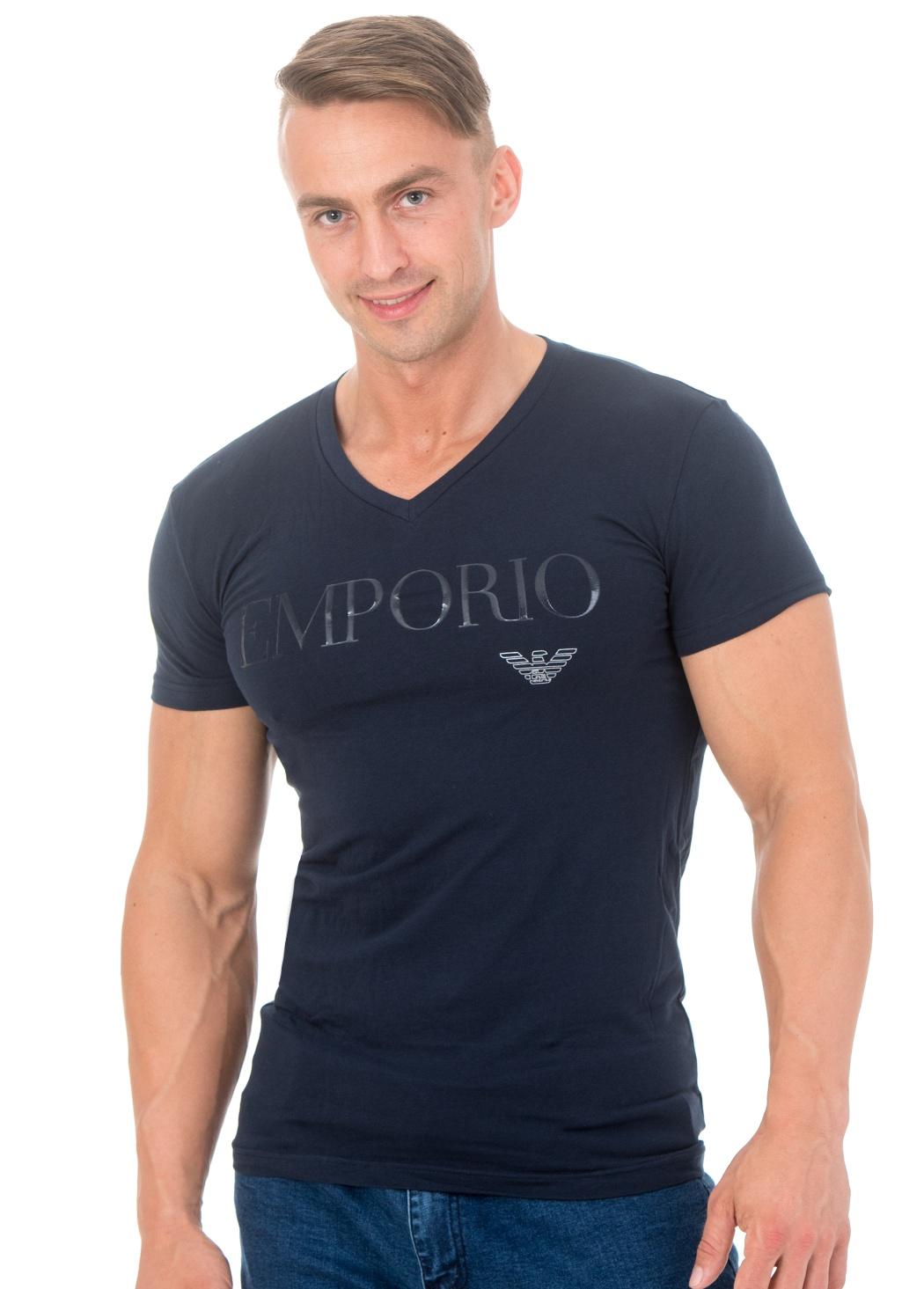 Pánské tričko Emporio Armani 110810 7A516 S Tm. modrá