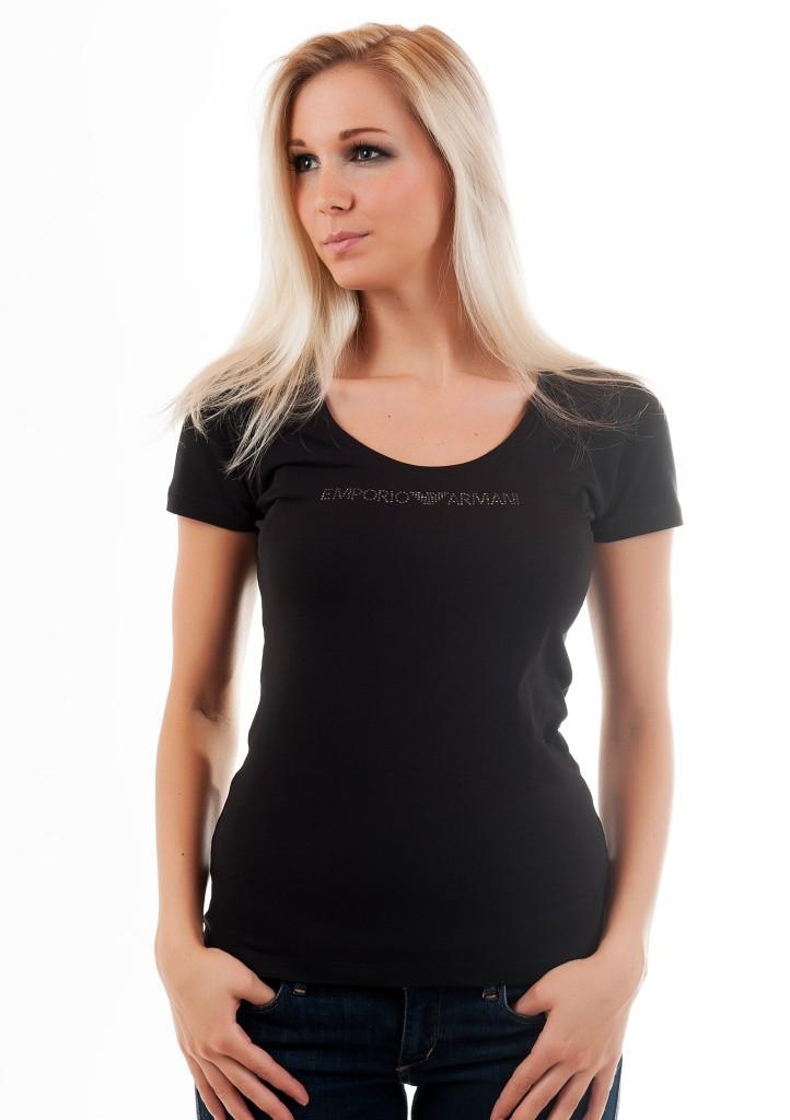 607cbba9d5c6 Dámske tričko Emporio Armani 163377 4P263 čierne