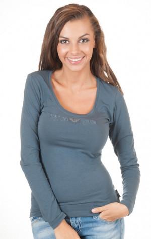 Dámské tričko Emporio Armani 163378 4A263 šedé ... 85f3ce780a5