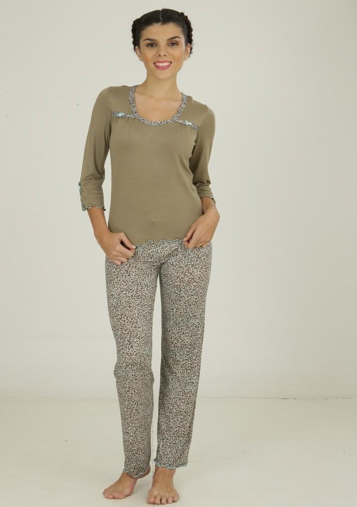 Dámské viskózové pyžamo Cocoon Secret 691 YPJ M Dle obrázku