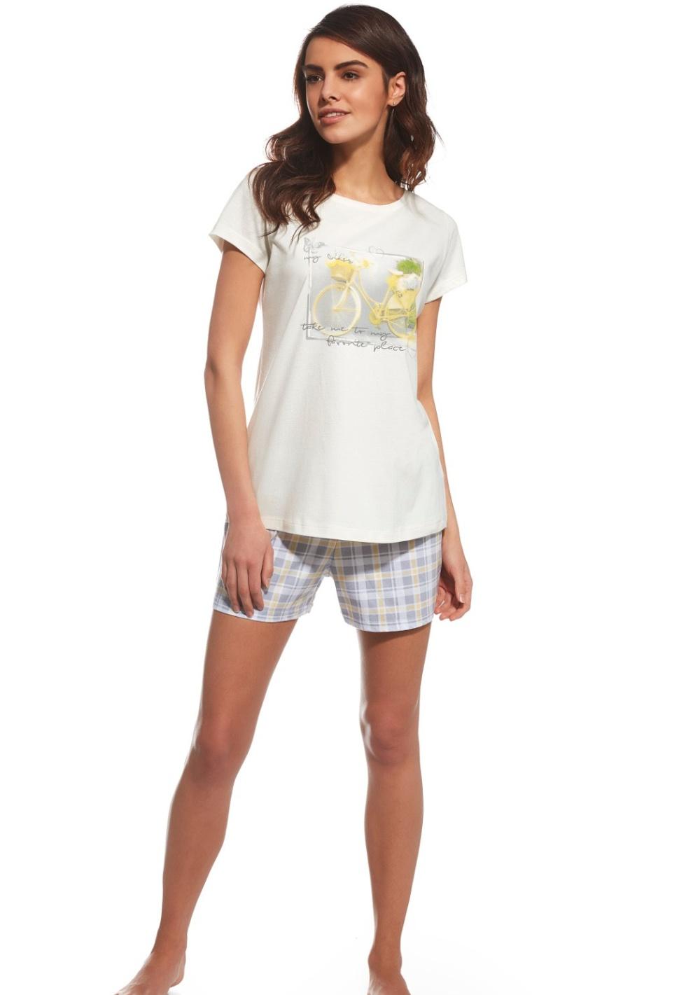 Dámské pyžamo Cornette 628/103 L Krémová
