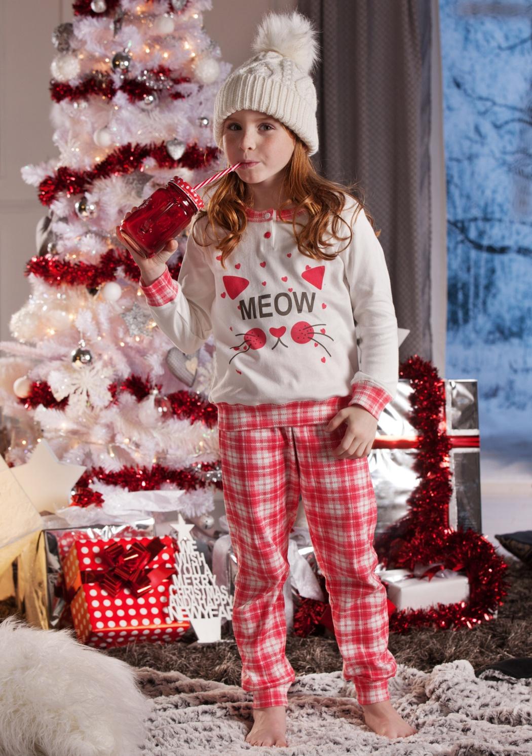 Dětské pyžamo Cotonella DB275 5/6 Krémová