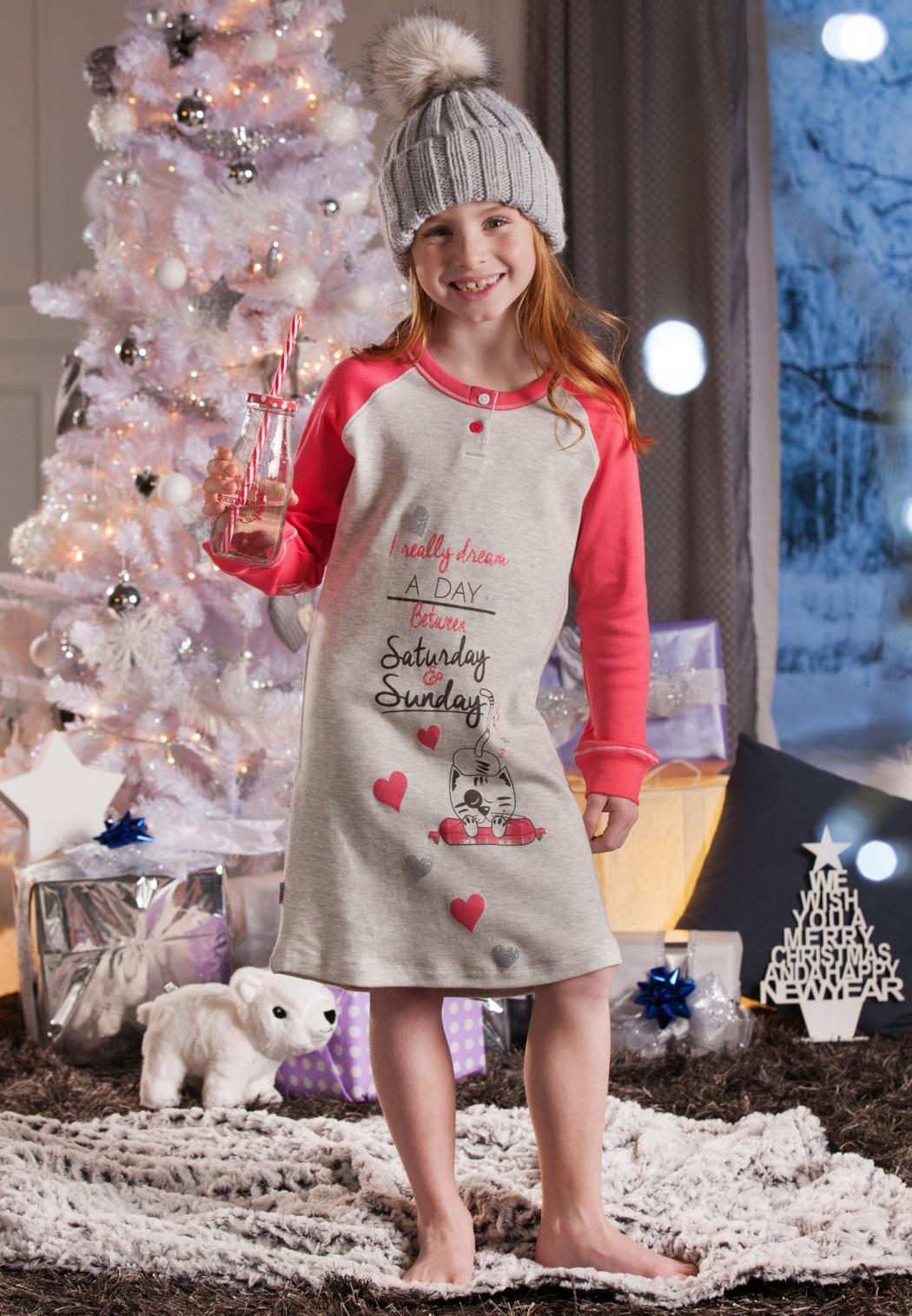 Dětské pyžamo Cotonella DB276 5/6 Sv. šedá
