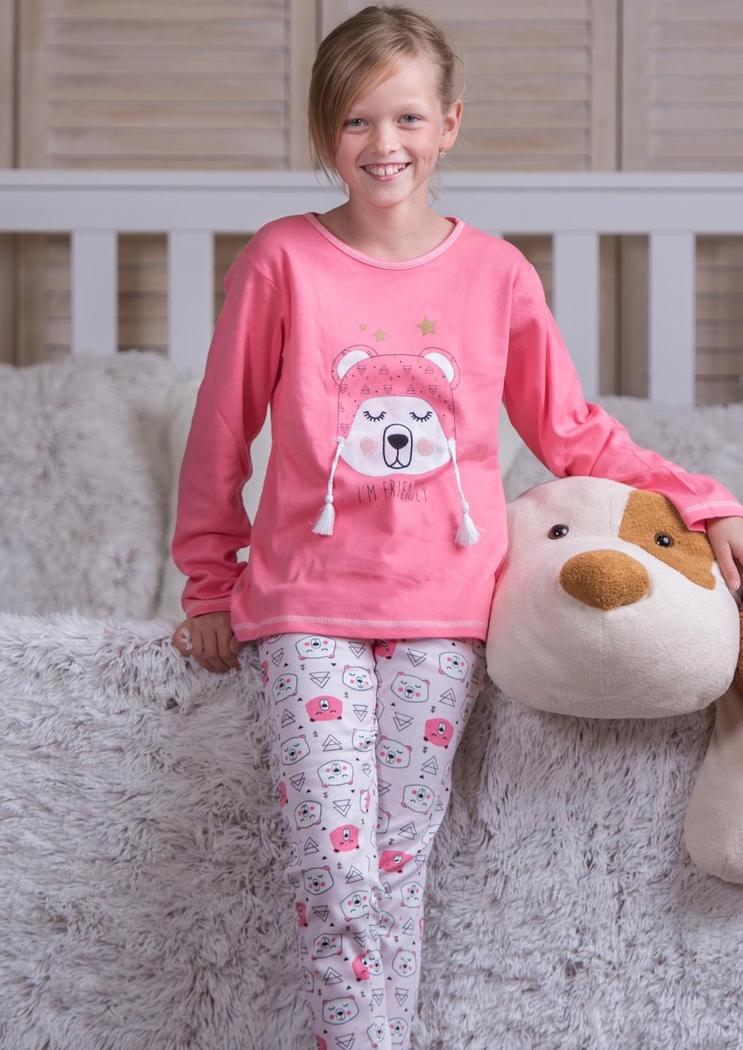 Dětské pyžamo CTM OURSON.PLK 5 Růžová