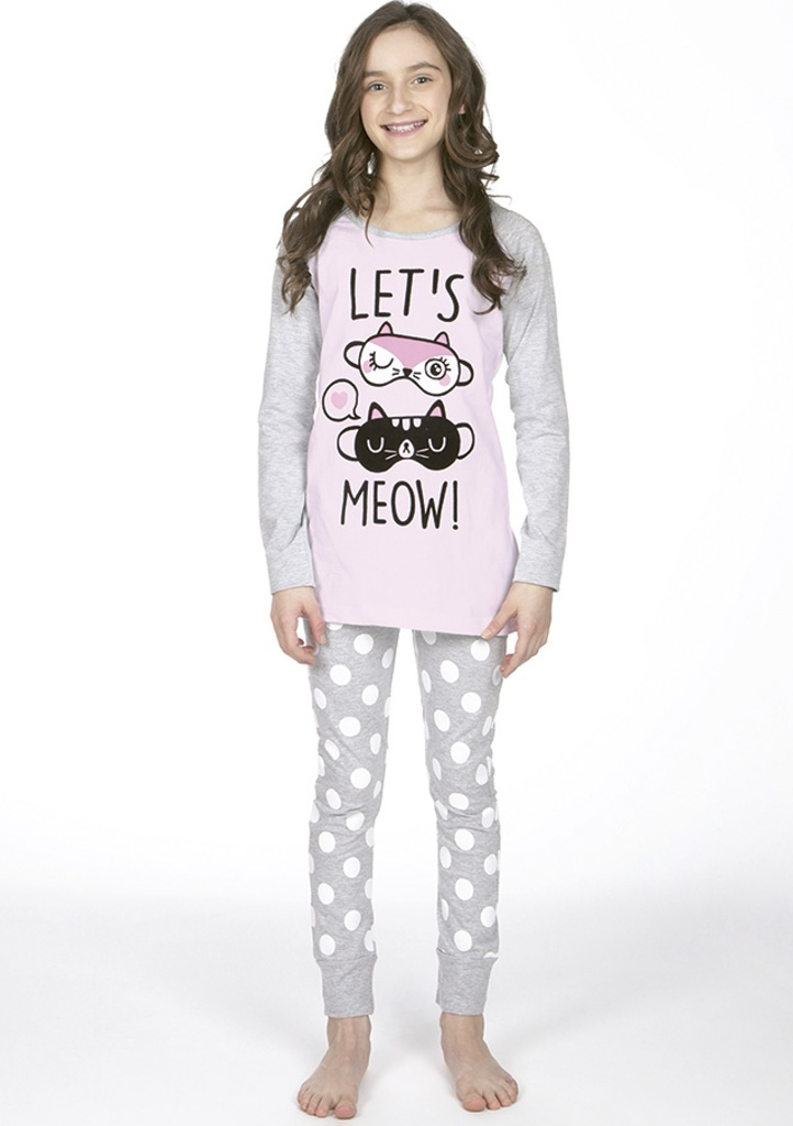 Dětské pyžamo CTM MIAOU.PL 10 Světle růžová