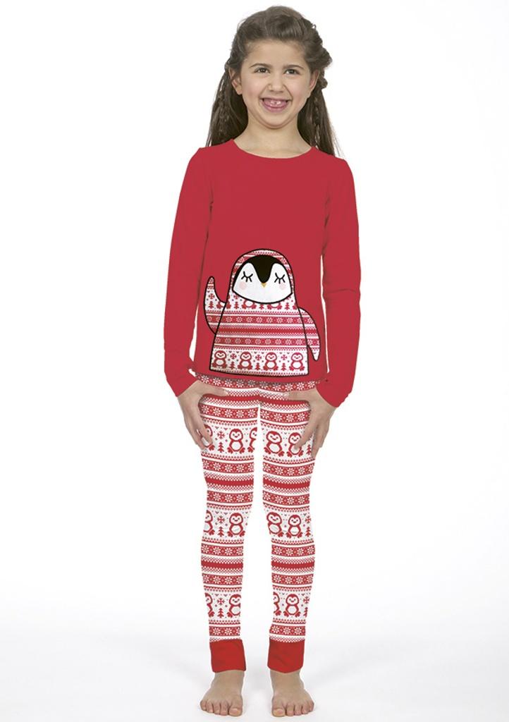 Dětské pyžamo CTM BANQUISE.PLK 4 Červená