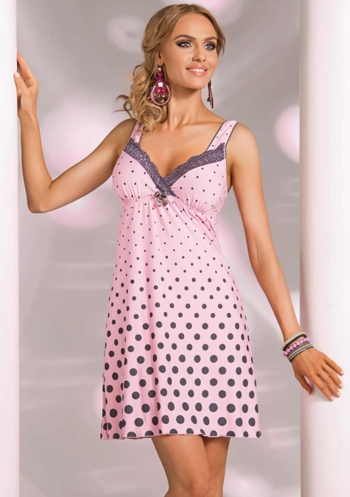Noční košilka Donna Sonia - růžová XXL Světle růžová