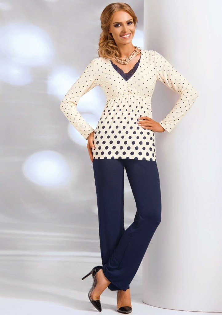 Dámské pyžamo Donna Sonia 3XL Smetanová