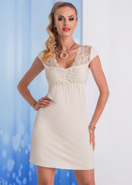 Elegantní noční košilka Donna Taylor XXL Krémová
