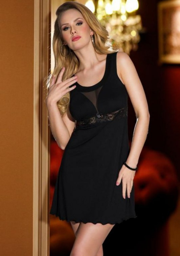 Dámská noční košilka ELDAR Grace XL Černá