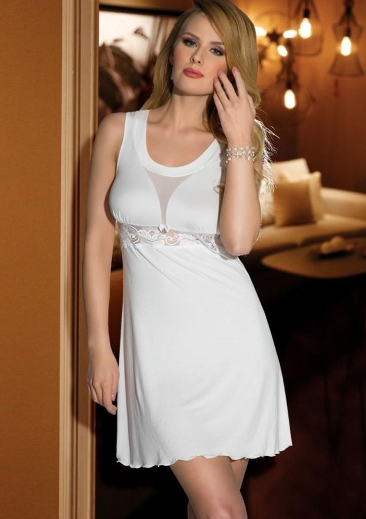 Dámská noční košilka ELDAR Grace XL Krémová