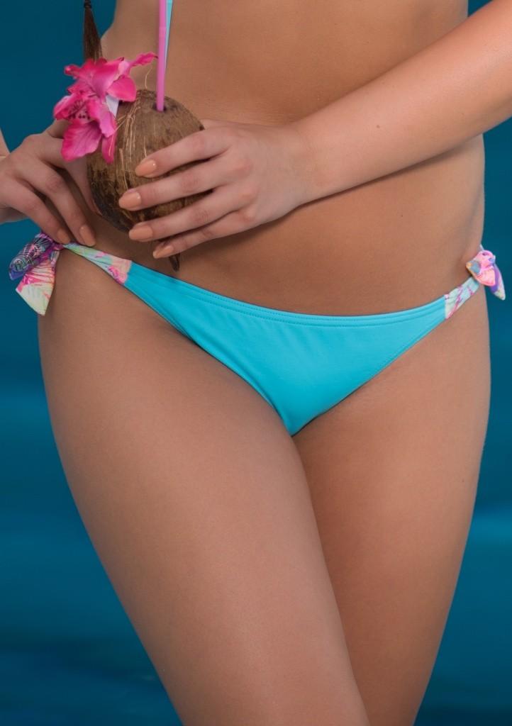 Plavky Fantasy Chiara K19 spodní díl - azuro, růžová S Tyrkysová