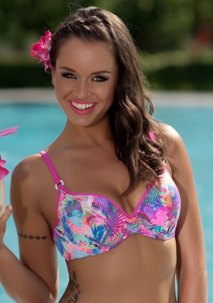 Plavky Fantasy Chiara P9 horní díl růžový lem 70 D Dle obrázku