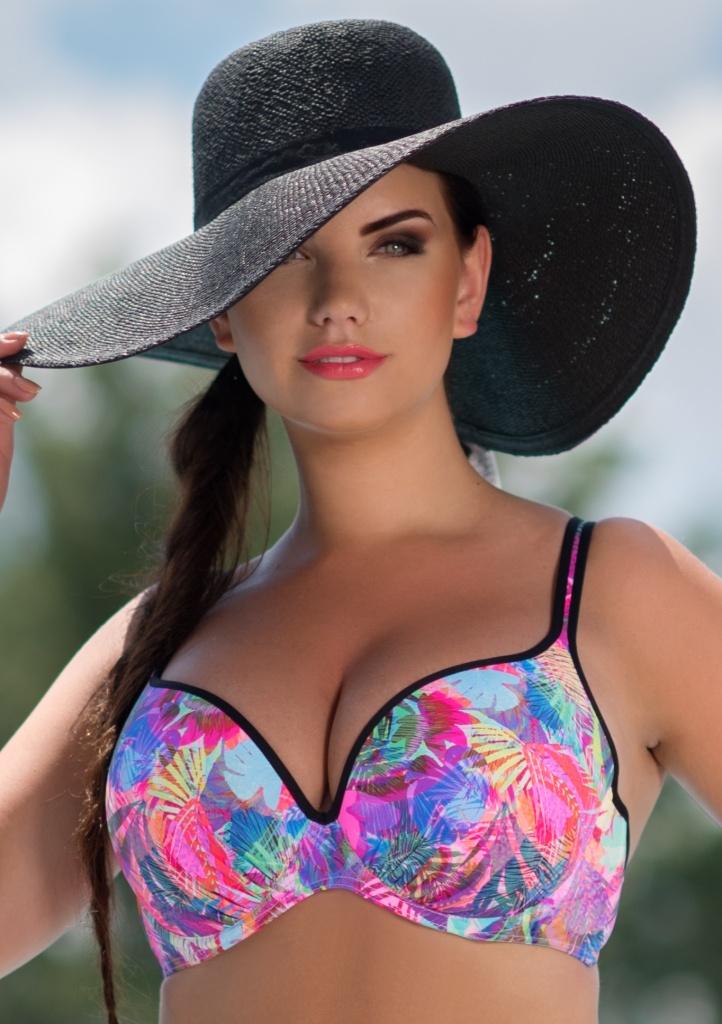 Plavky Fantasy Chiara P5 horní díl černý lem 75 F Dle obrázku