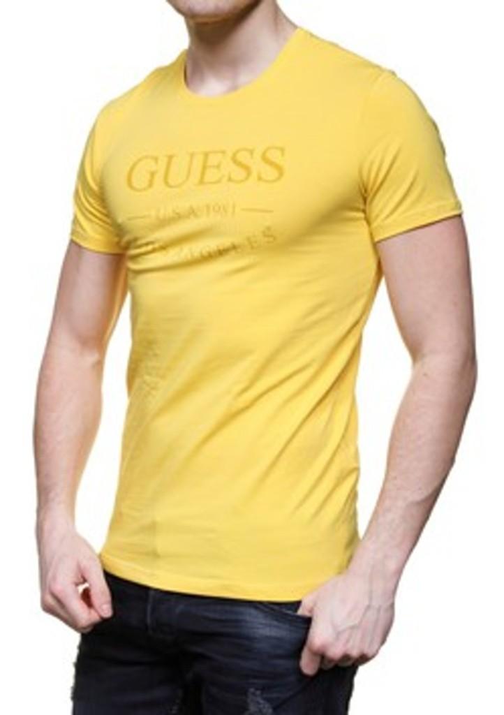 395df6f071 Pánské tričko Guess U54M10 žlutá