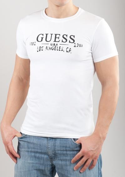Pánske tričko Guess UCPM29 biela  9fa7cae8ff2