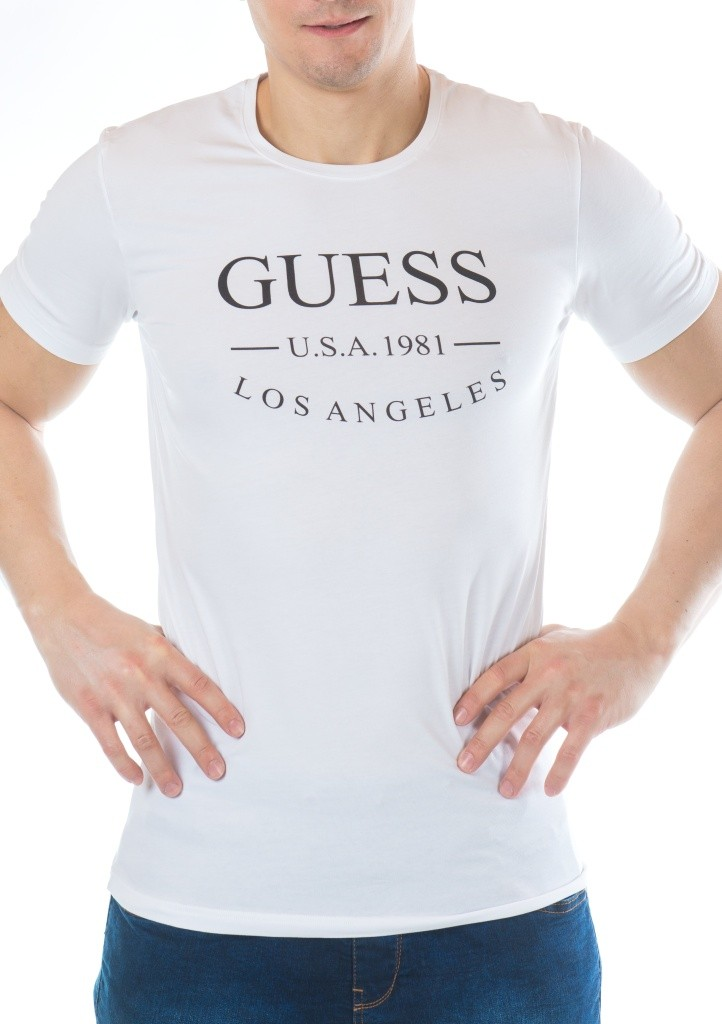 Pánské tričko Guess U54M10 XL Bílá