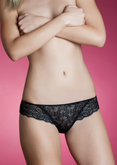 Dámské kalhotky brazilky Holly Lormar XL Sv. hnědá