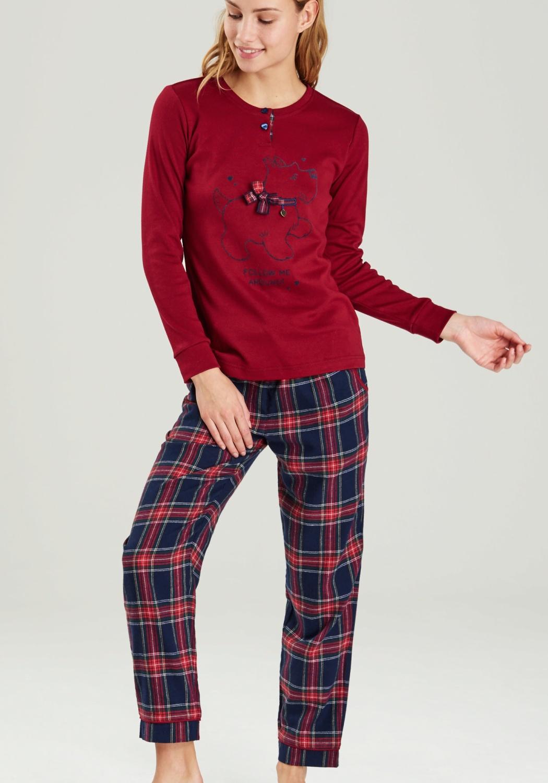 Dámské pyžamo Noidinotte FA6352 XS Rubínová