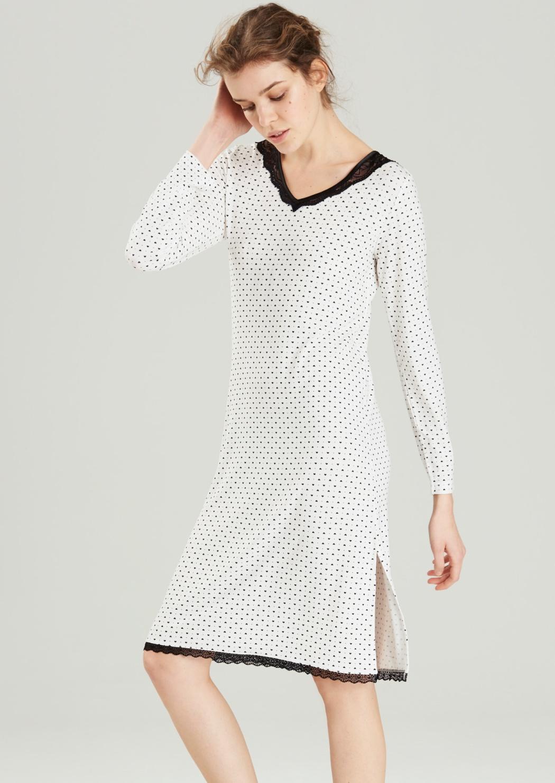 Dámská noční košile Noidinotte LA1677 M Bílá