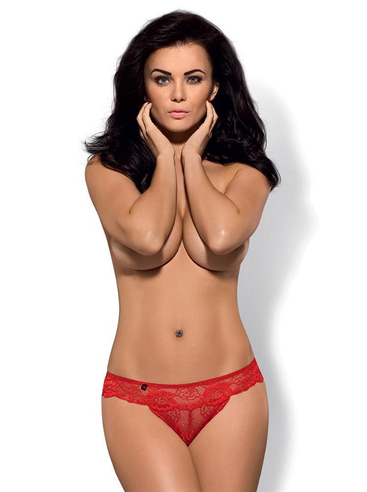 Kalhotky Obsessive Secred panties S/M Červená