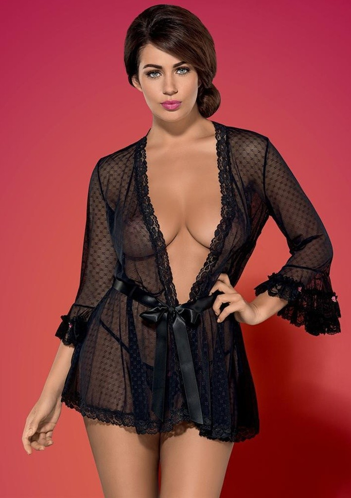 Župan Obsessive Piccorosa robe L/XL Černá