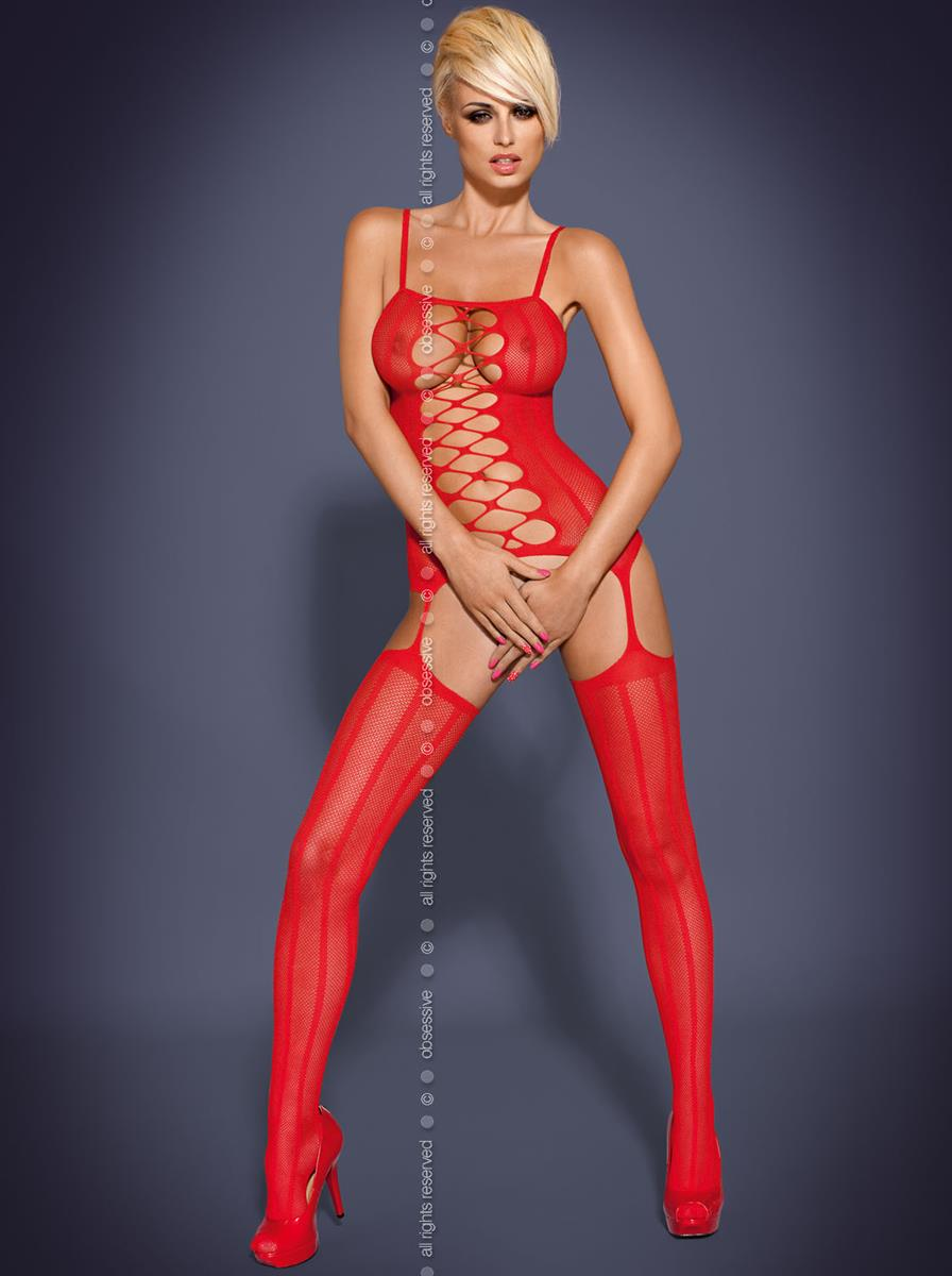 Body Bodystocking G300 - Obsessive S/M Bílá