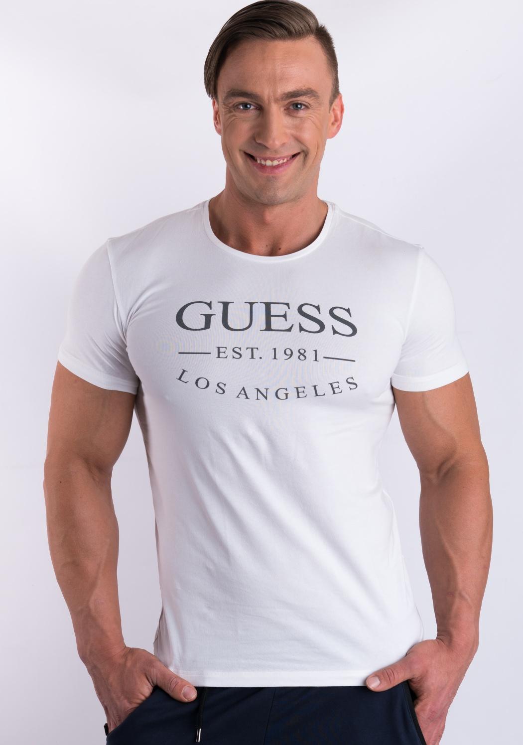 Pánské tričko Guess U77M12 XL Bílá