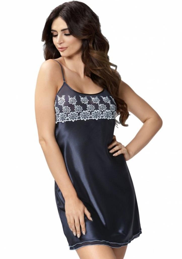 Dámská noční košilka Donna Janette XL Tm. modrá