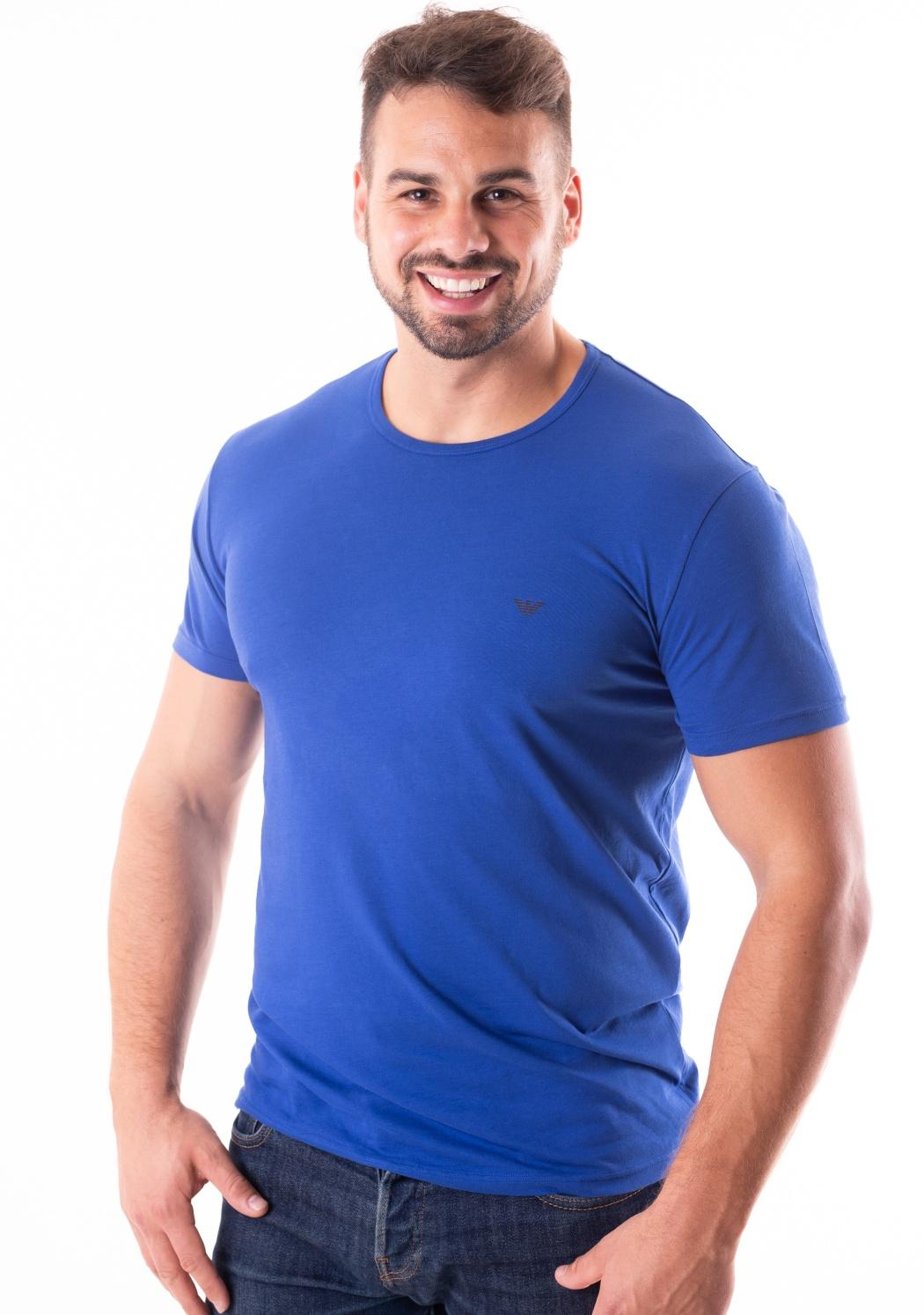 4d3139343ef9 Pánské tričko Emporio Armani 111267 8A722 M Modrá - Spodní prádlo ...