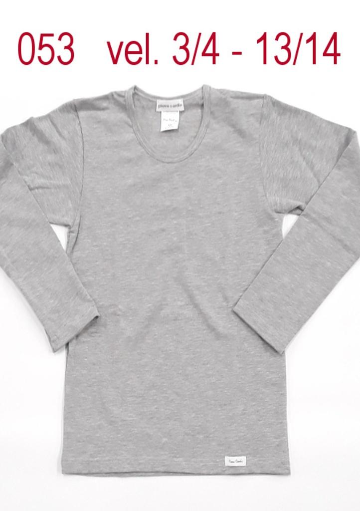 Dětské tričko Pierre Cardin 053 3/4 Šedá