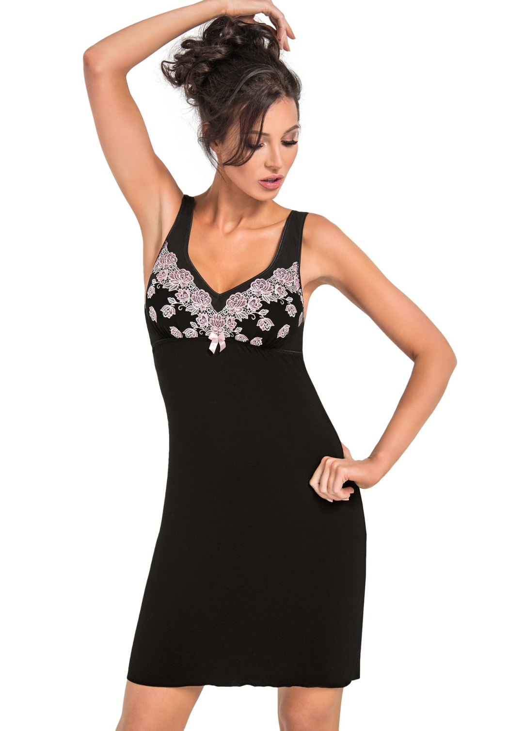 Noční košilka Donna Megan XL Černá