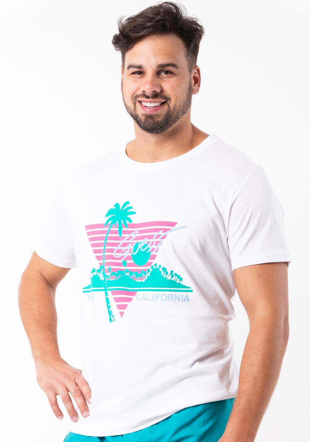 Pánské tričko Guess F92I03 S Bílá