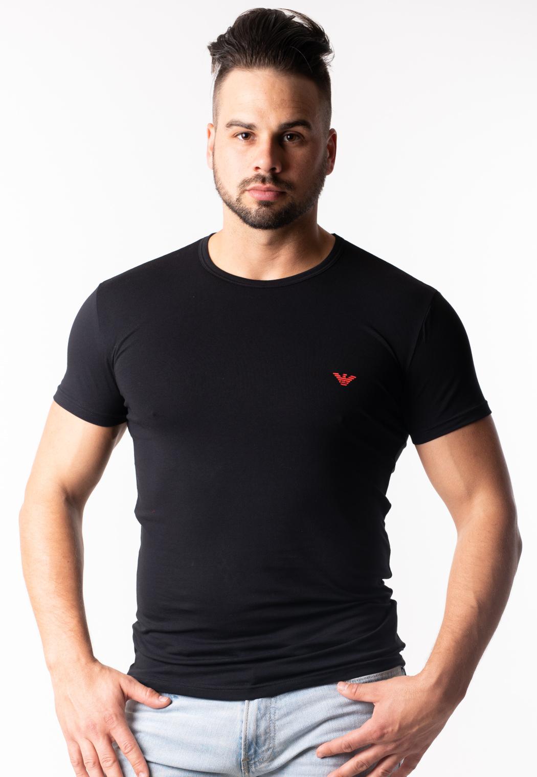 Levně Pánské tričko Emporio Armani 111035 9P723 XXL Černá