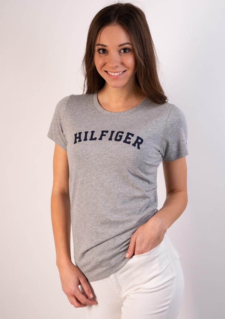 Levně Dámské tričko Tommy Hilfiger UW0UW00091 M Šedá