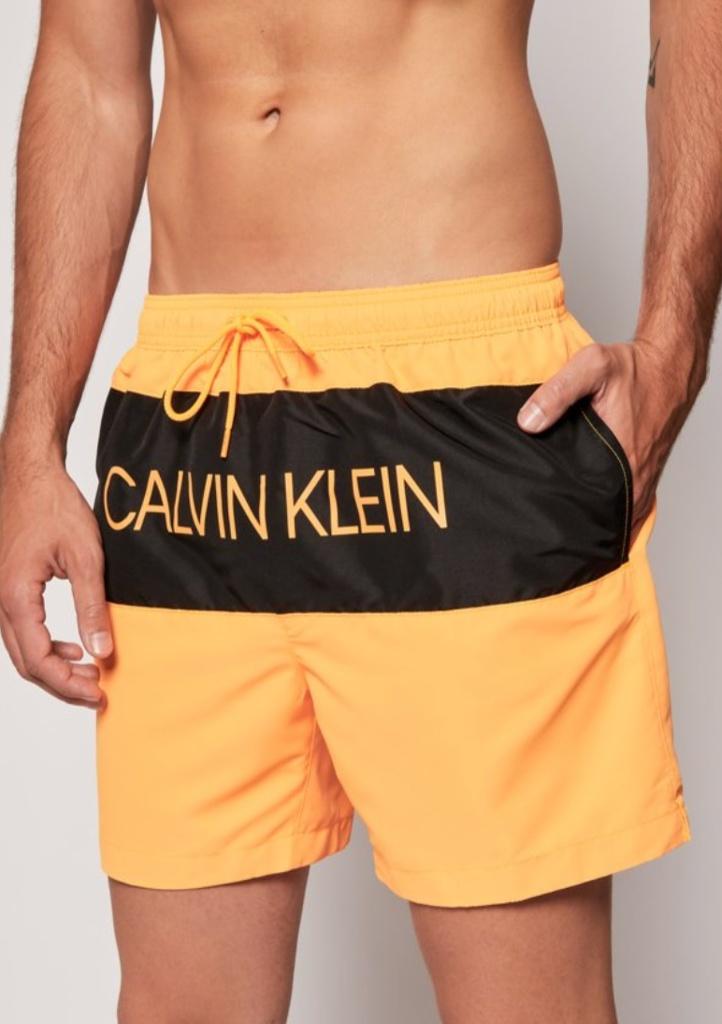 Pánské plavky Calvin Klein KM0KM00456 XL Pomerančová