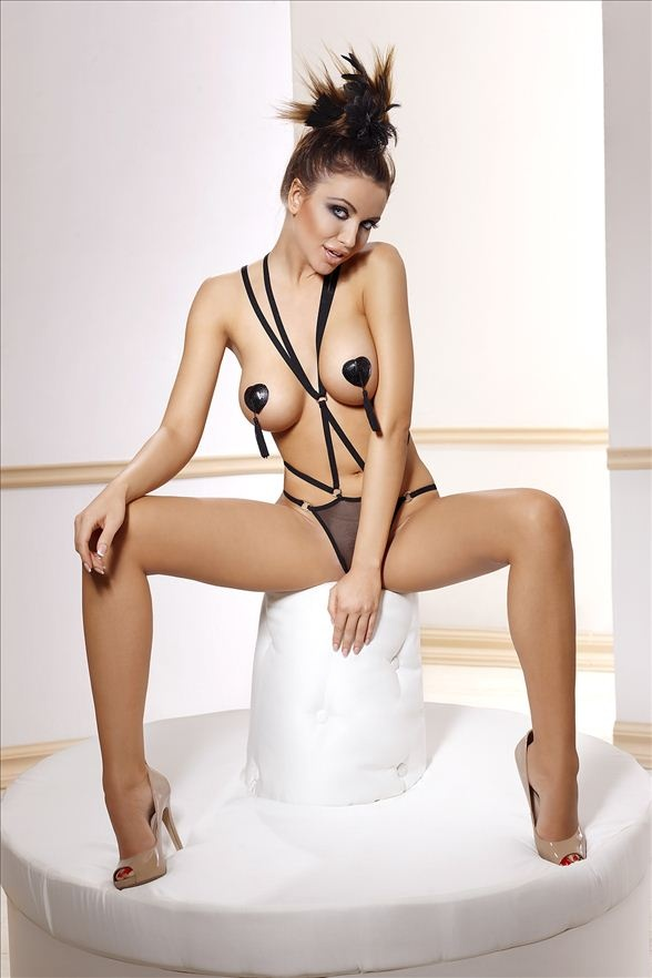 Body Anais Inez set XL Černá
