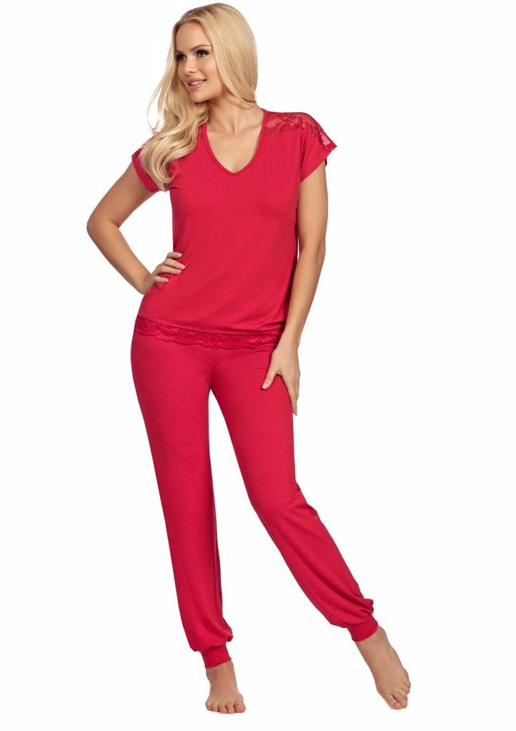 Dámské pyžamo Donna Lena L Červená