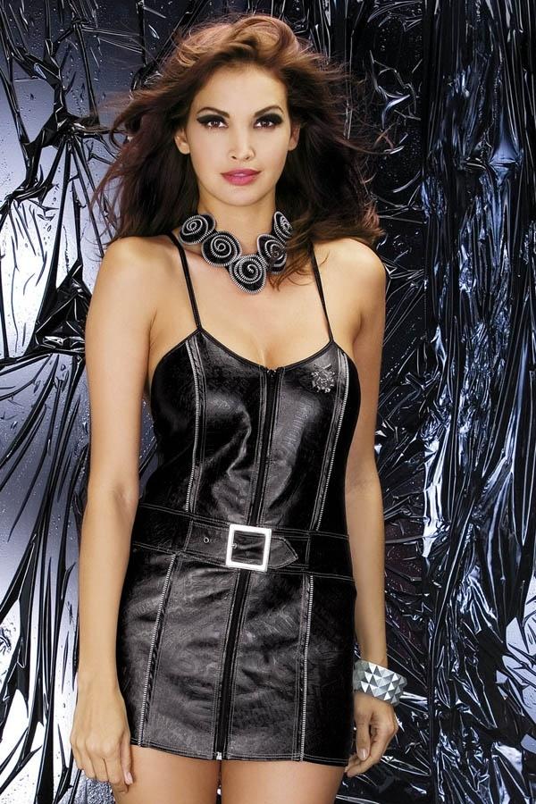 Sexy kostým Biker dress - Obsessive S/M Černá