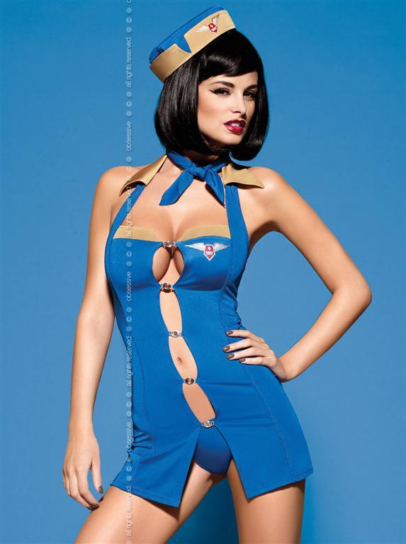 Sexy kostým Air Hostess - Obsessive L/XL Dle obrázku
