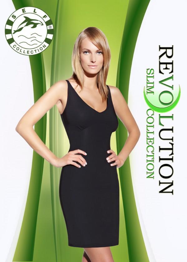 Zeštíhlující šaty F020 - Self XL/2XL Černá