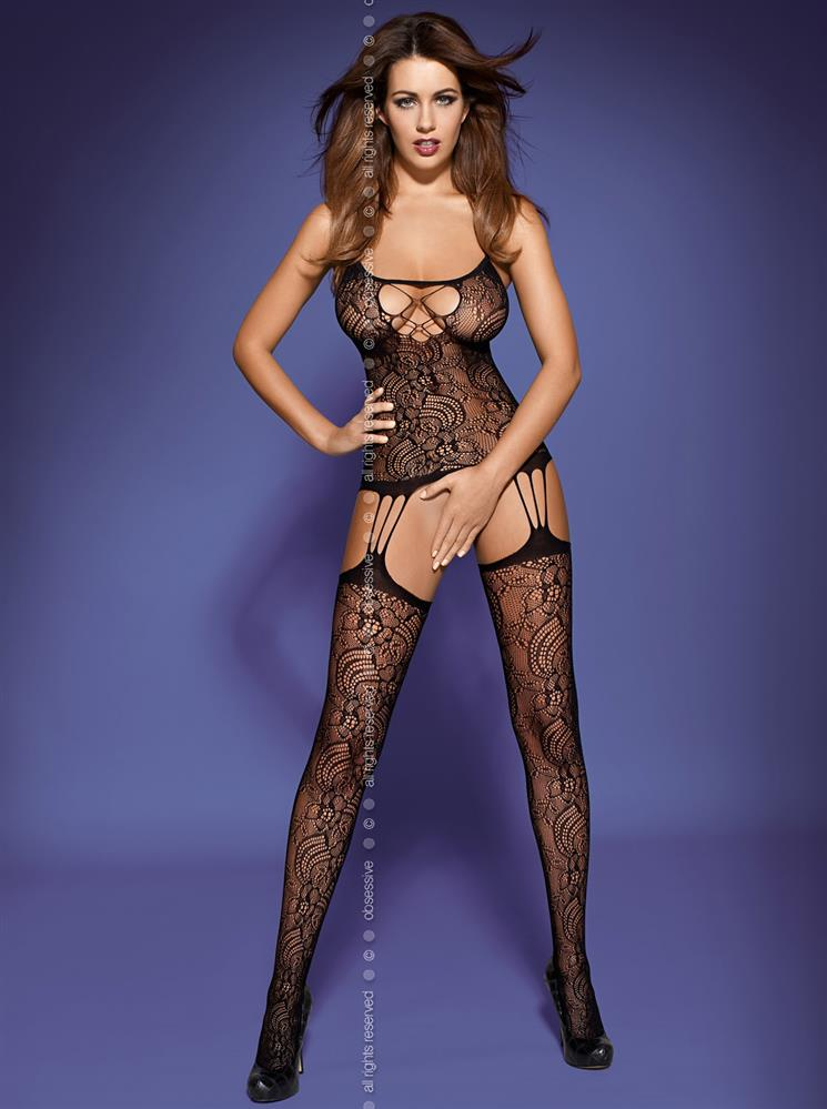 Body Bodystocking F208 - Obsessive S/M Čierna