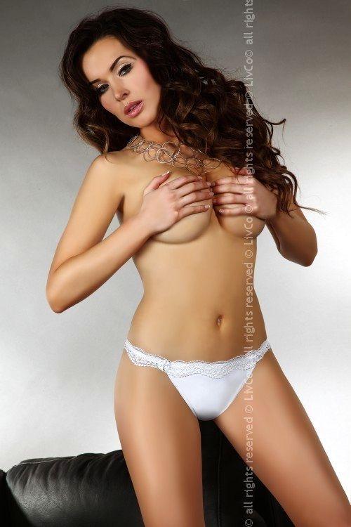 Kalhotky Shizu - Livia Corsetti XL Bílá