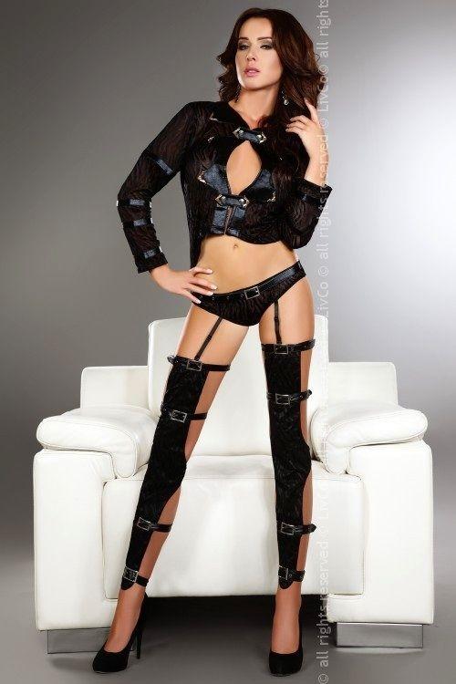 Sexy kostým Erna - Livia Corsetti L Černá