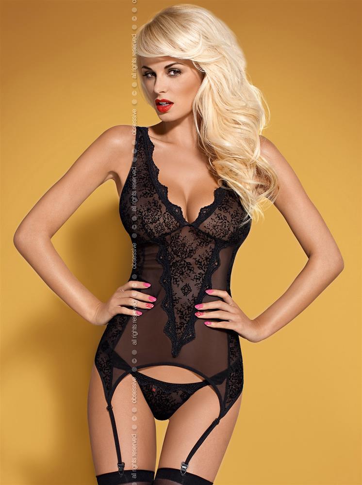 Korzet Emperita corset - Obsessive S/M Čierna