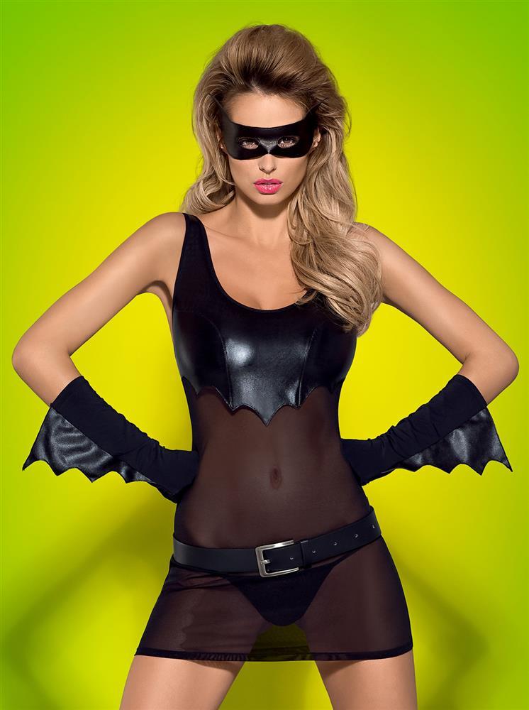 Sexy kostým Batty - Obsessive L/XL Černá